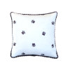 Artisan Dog Paw Print Soft Pillow with Piping