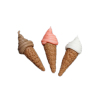 Set of Soft Serve Ice Cream Cones