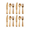 Gold Metal Flatware Set