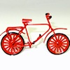 Red Metal Bicycle Bike with Turning Wheels