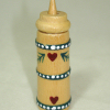 Handpainted Wood Country Butter Churn