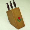 Filled Wood Kitchen Knife Block