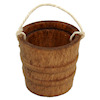 Handcrafted Aged Wood Bucket