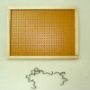 Garage or Workshop Real Wood Framed Pegboard with Hooks