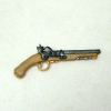 Dollhouse Miniature Flintlock Handgun with Gold Trim