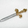 Silver and Gold Dagger with Ornate Fleur De Lis Design