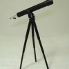 Swivelling Black Metal Telescope on Tripod