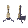 Black and Gold Andirons