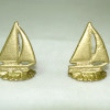 Golden Metal Sailboat Bookends