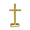 Handpainted Golden Metal Cross
