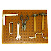 Handcrafted Garage or Workshop Pegboard with Tools