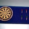 Deluxe Dart Board and Metal Dart Set