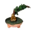 Handcrafted Asian Bonsai Tree Plant with Buddha