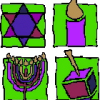 Kiddie Jewish Symbols Cross Stitch Rug Pattern