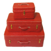 Set of Red Luggage
