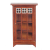 Mission Style Wood Bookcase with Glass Door