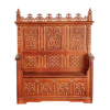 Medieval Monks Bench Ornately Carved Church Furniture