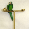 Jeannetta Kendall Green Macaw on Stand