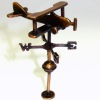 Jeannetta Kendall Antiqued Bi-Plane Airplane Weather Vane