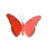 Jeannetta Kendall Handcrafted Red Butterfly