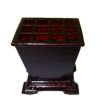 Bespaq Mahogany Cane or Umbrella Stand with Dividers