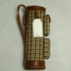 Jeannetta Kendall Leather Trim Plaid Golf Bag