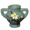 Jeannetta Kendall Green Handle Flower Vase