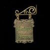 Hanging Jeannetta Kendall Brass Antique Shoppe Sign Set