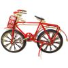 Red Metal Bicycle with Working Wheels