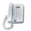 Ulus Artisan Crafted Detailed Modern Push Button White Telephone