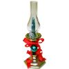 Christmas Hurricane Candle Lamp with Glass Shade