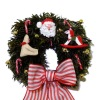IGMA Judith Orr Bear Santa Rocking Horse Christmas Wreath