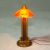 Jim Pounder Working Art Deco Amber Clamshell Table Lamp