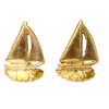 24K Gold Plate Sailboat Bookend Set