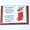 Mini Open Christmas Poem Book with Stocking Picture