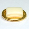 Golden Soap Dish with White Soap
