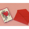 Handcrafted Opening Valentine's Day Card and Envelope