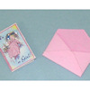 Handcrafted Opening It's A Girl Announcement Card and Envelope