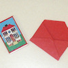 Opening Dollhouse Theme Greeting Card with Envelope