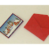 Handcrafted Opening Christmas Greeting Card and Envelope Set