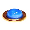 Golden Soap Dish with Blue Soap