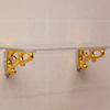 Clear Shelf Kit with Gold Plated Brackets