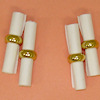 Miniature Napkin Rings with Napkins