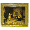 Gilded Frame Victorian Children with Doll House Picture