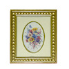 Framed Double Oval Matted Flower Bouquet Picture