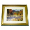 Autumn By The Stream Double Matted Framed Picture