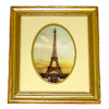 Double Oval Matted Eiffel Tower Framed Picture