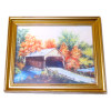 Covered Bridge in Autumn Framed Picture