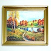 Autumn By the Pond Framed Picture