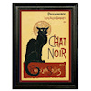 Miniature Framed Black Cat Picture